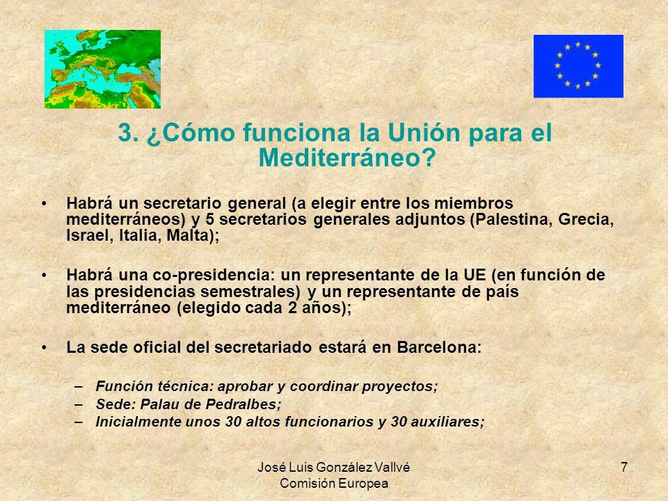 3. ¿Cómo funciona la Unión para el Mediterráneo