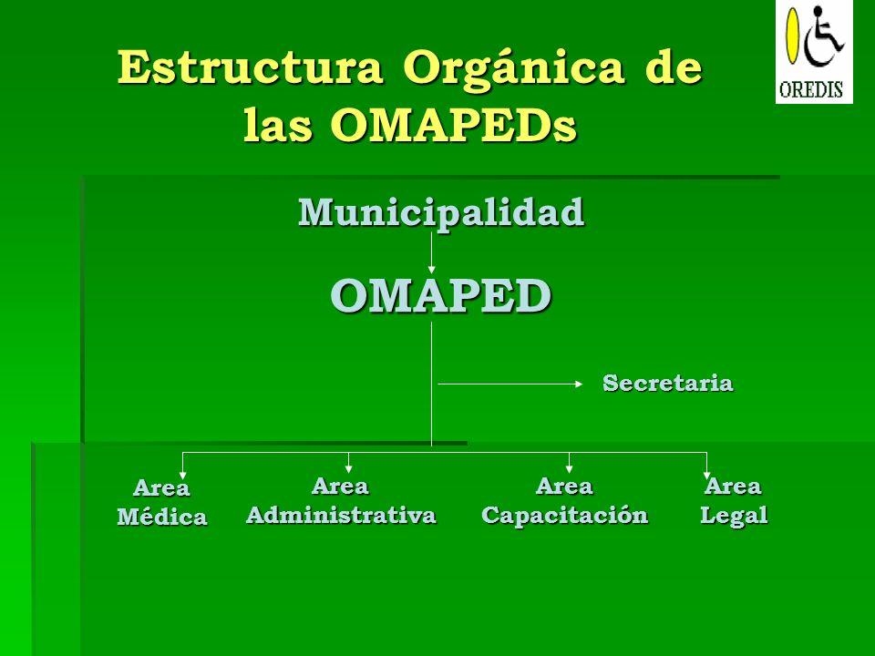 Estructura Orgánica de las OMAPEDs