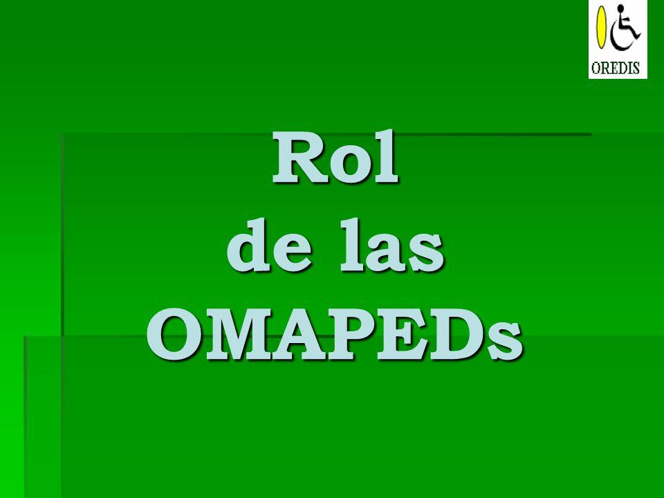 Rol de las OMAPEDs