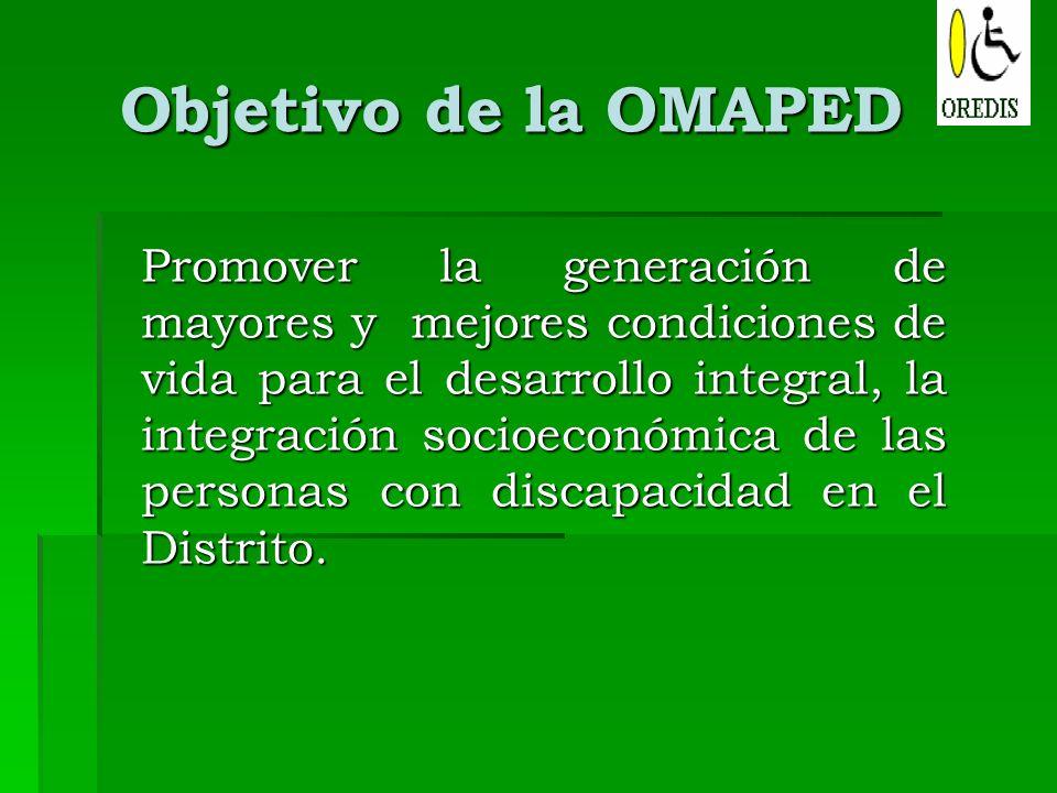 Objetivo de la OMAPED
