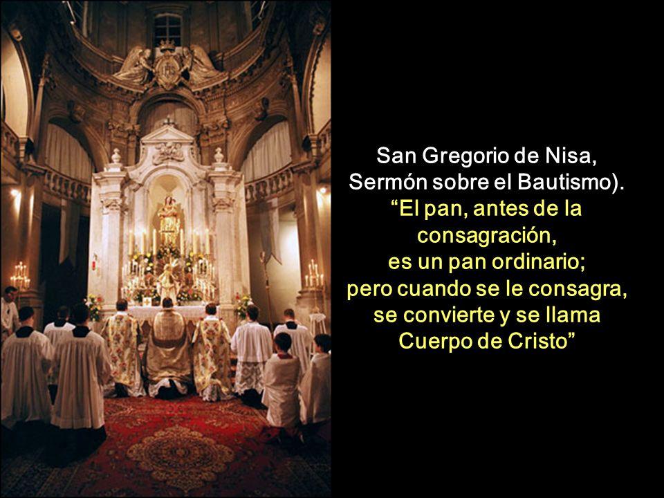 San Gregorio de Nisa, Sermón sobre el Bautismo).