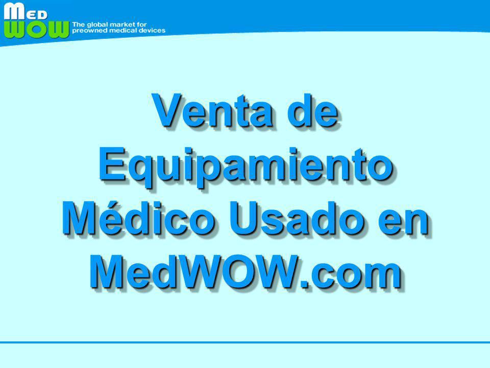 Venta de Equipamiento Médico Usado en MedWOW.com