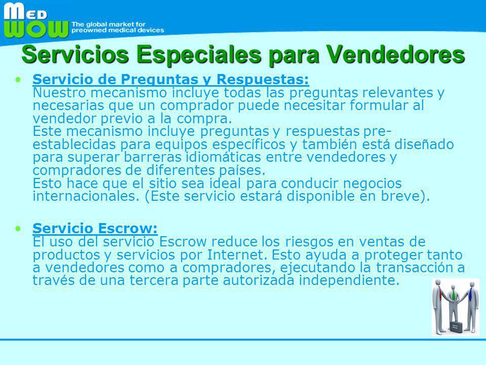 Servicios Especiales para Vendedores
