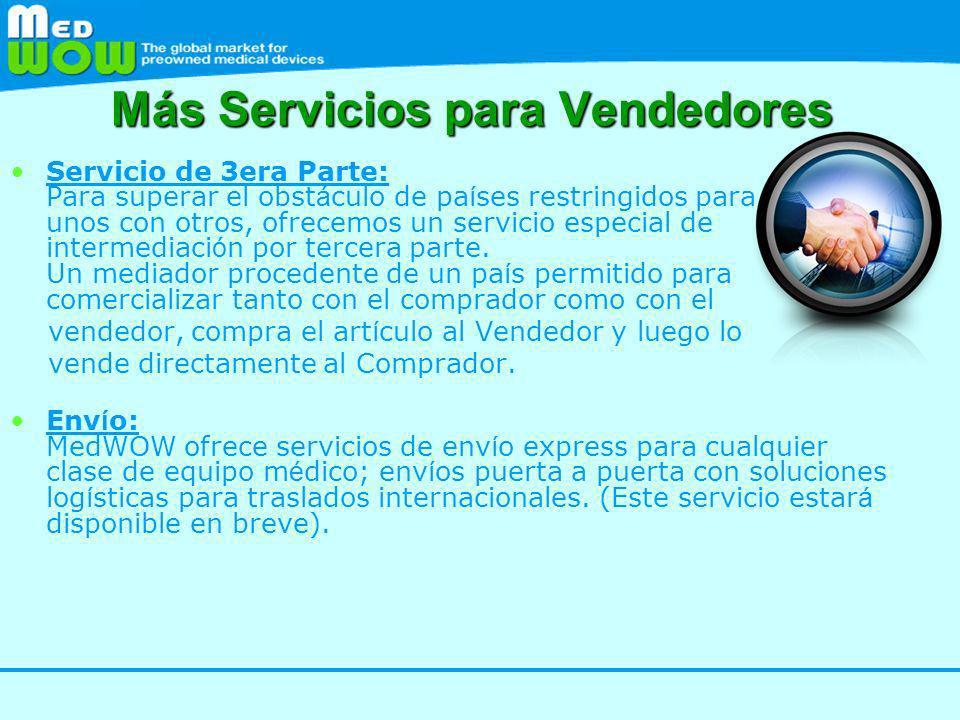 Más Servicios para Vendedores