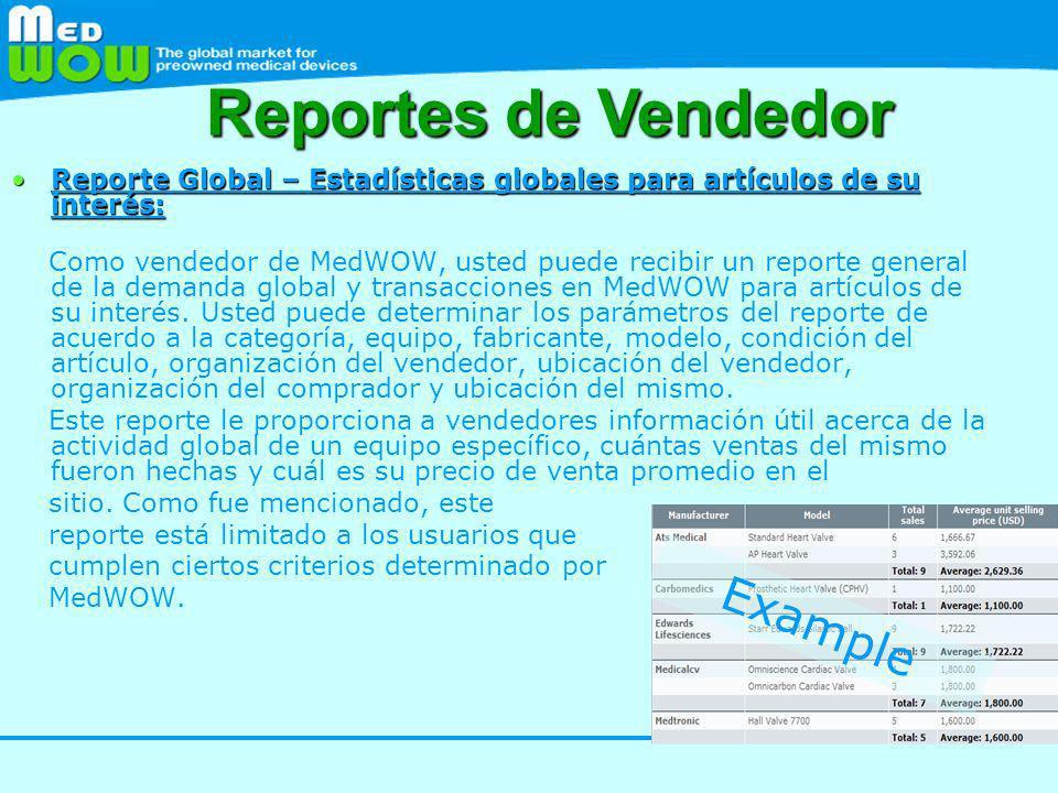 Reportes de Vendedor Example