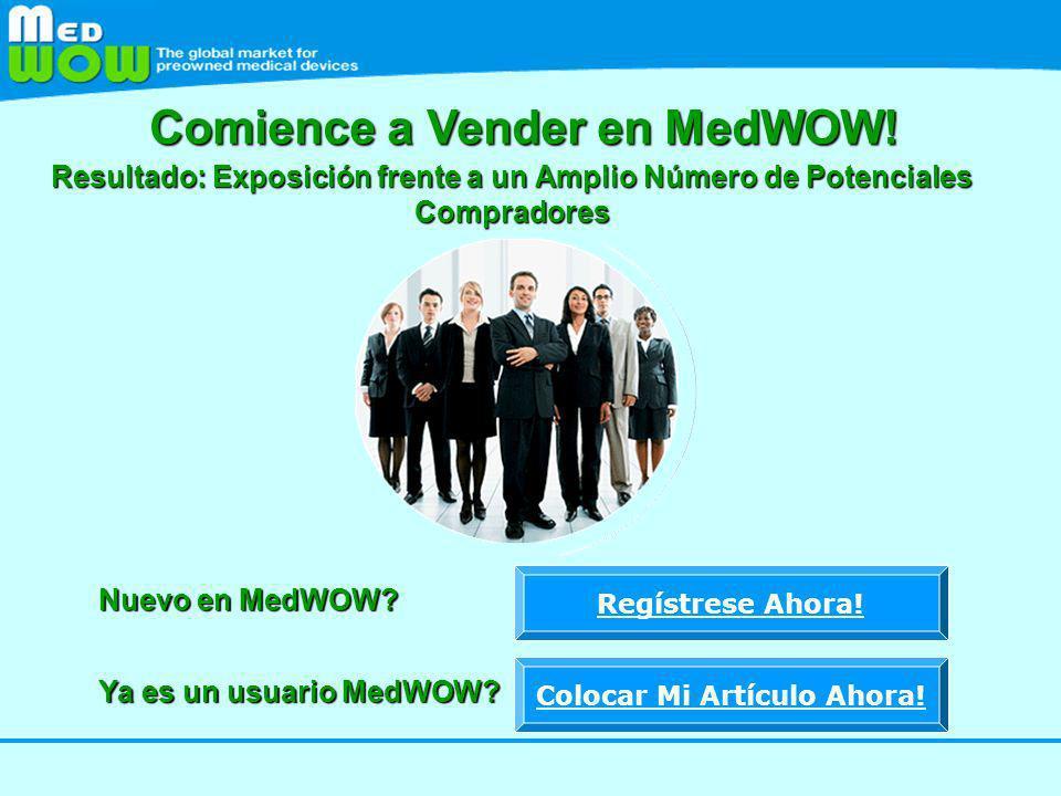 Comience a Vender en MedWOW! Colocar Mi Artículo Ahora!