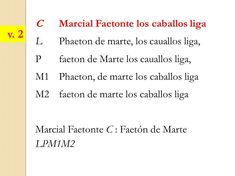 v. 2 C Marcial Faetonte los caballos liga