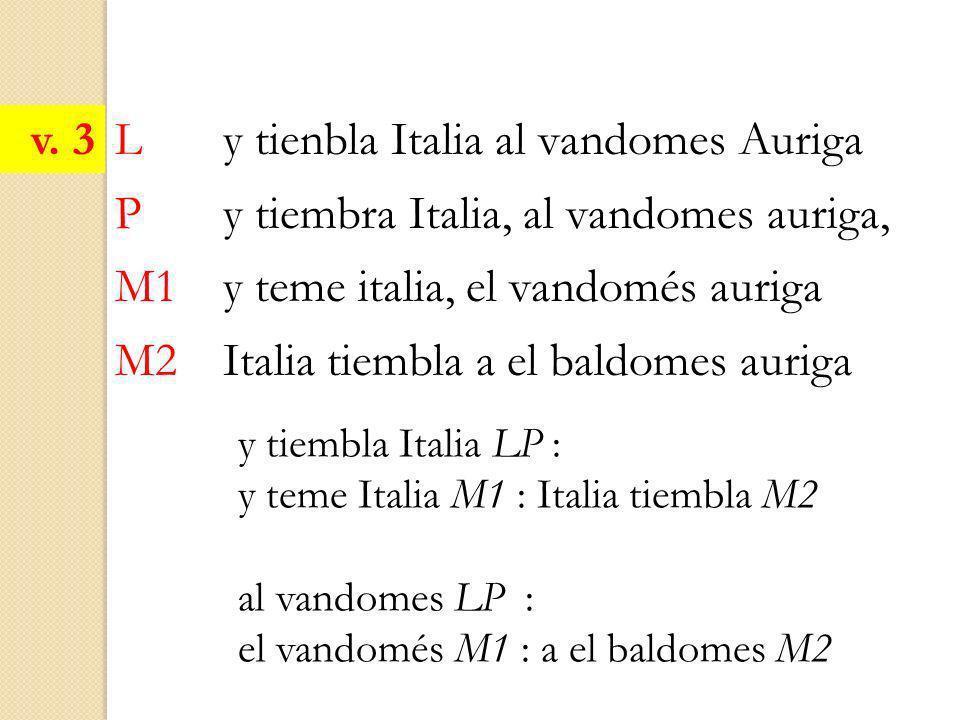 L y tienbla Italia al vandomes Auriga