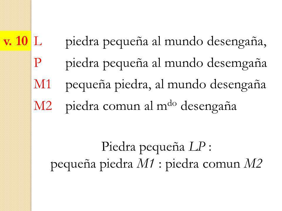 pequeña piedra M1 : piedra comun M2