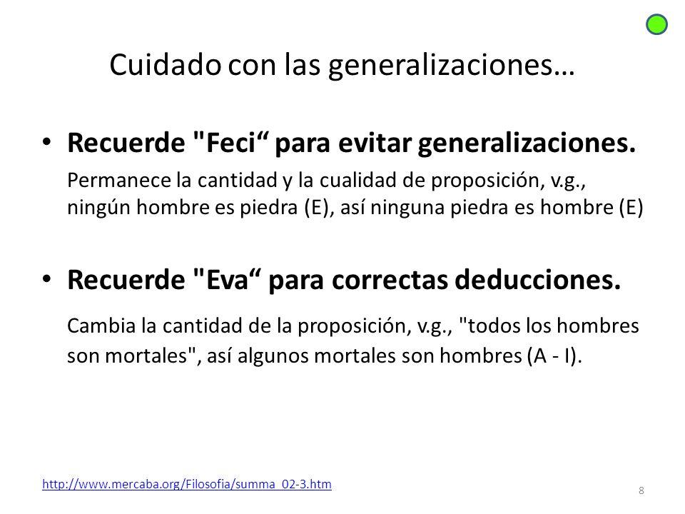 Cuidado con las generalizaciones…