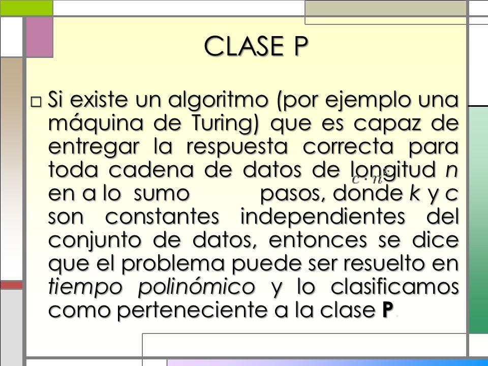 CLASE P