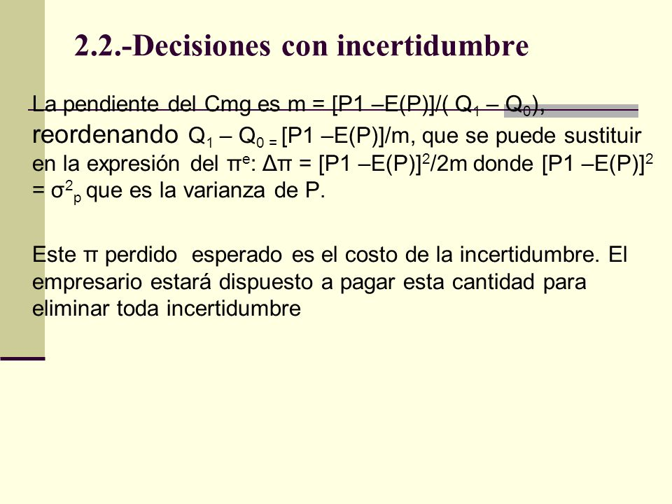 2.2.-Decisiones con incertidumbre
