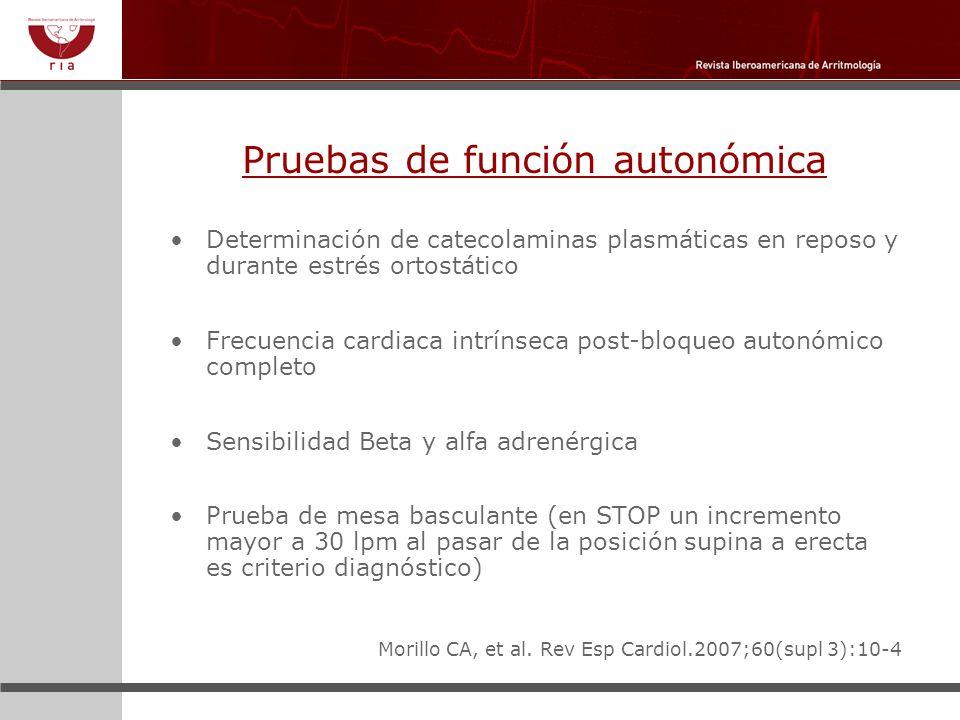 Pruebas de función autonómica