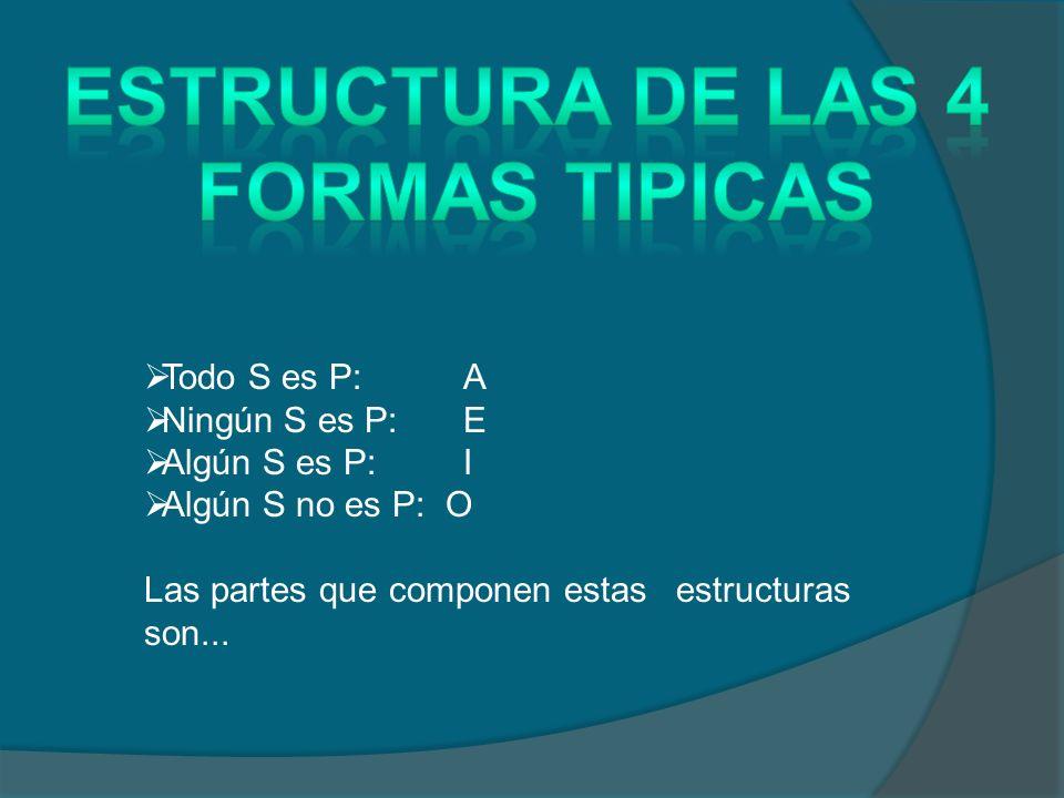 ESTRUCTURA DE LAS 4 FORMAS TIPICAS