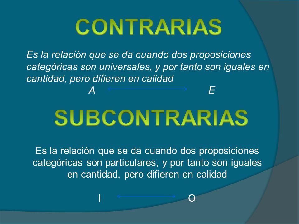 CONTRARIAS SUBCONTRARIAS