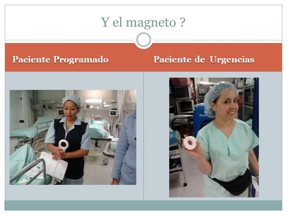 Y el magneto Paciente Programado Paciente de Urgencias