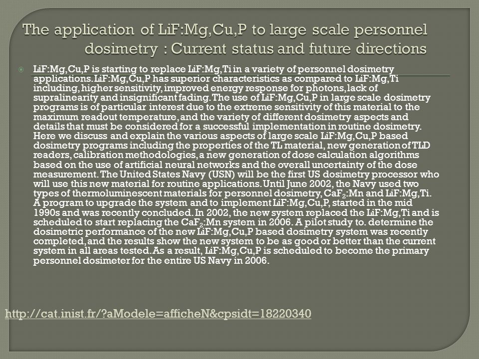 The application of LiF:Mg,Cu,P to large scale personnel dosimetry : Current status and future directions