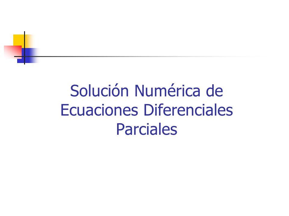 Solución Numérica de Ecuaciones Diferenciales Parciales