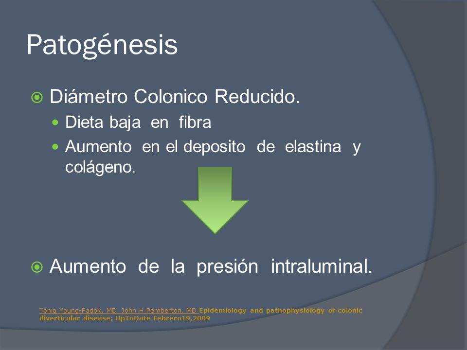 Patogénesis Diámetro Colonico Reducido.