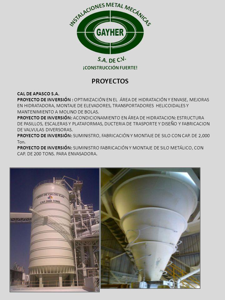 PROYECTOS CAL DE APASCO S.A.