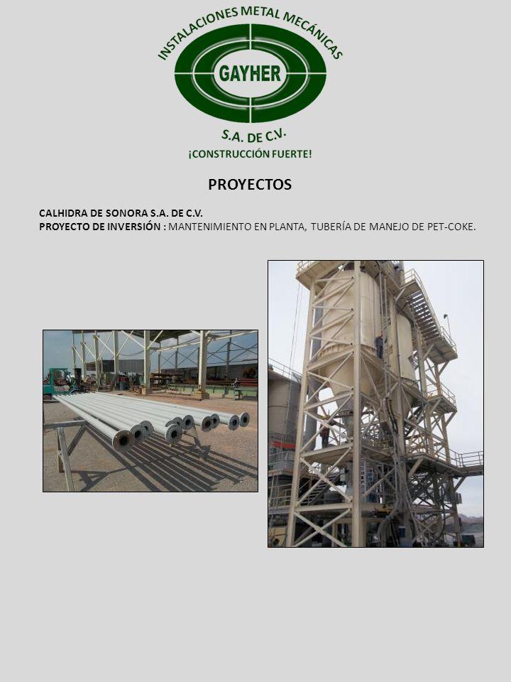 PROYECTOS CALHIDRA DE SONORA S.A. DE C.V.
