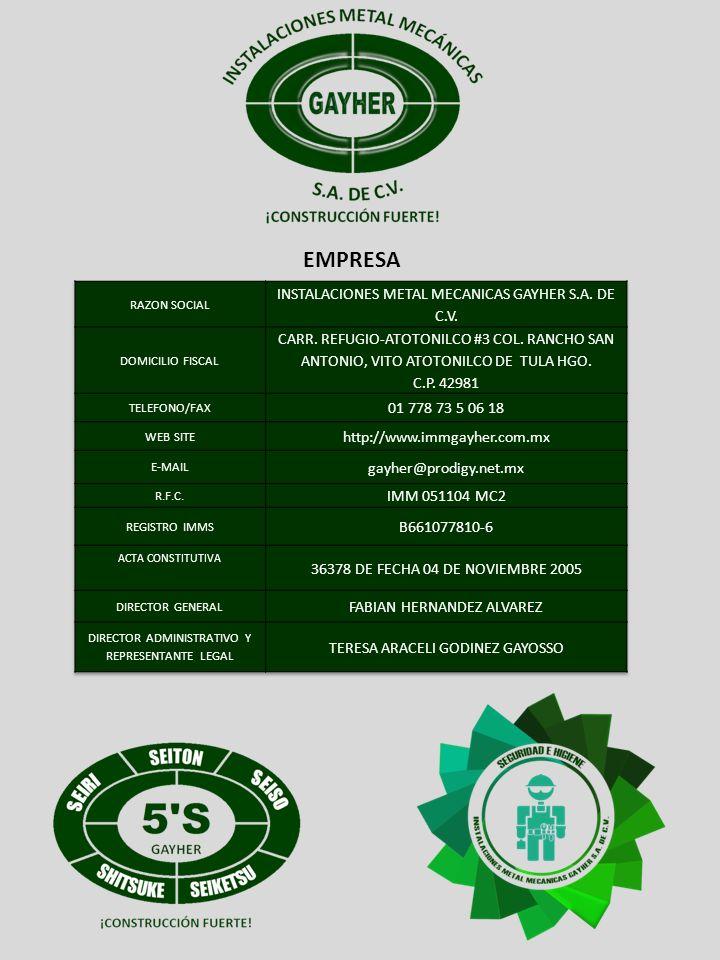 EMPRESA INSTALACIONES METAL MECANICAS GAYHER S.A. DE C.V.