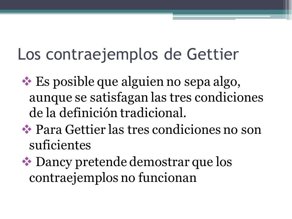 Los contraejemplos de Gettier