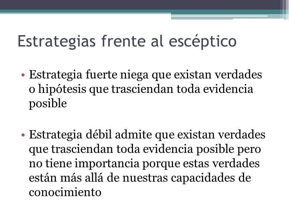 Estrategias frente al escéptico