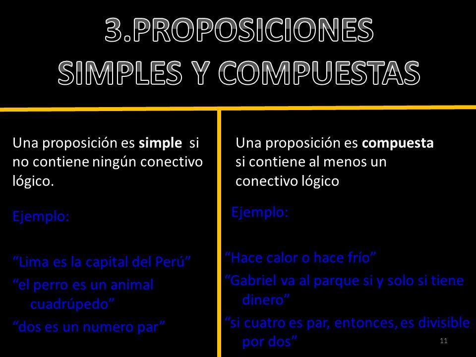 3.PROPOSICIONES SIMPLES Y COMPUESTAS