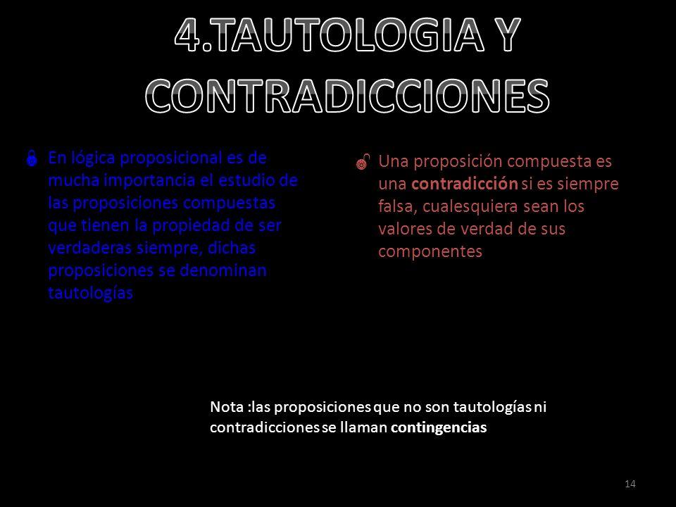 4.TAUTOLOGIA Y CONTRADICCIONES