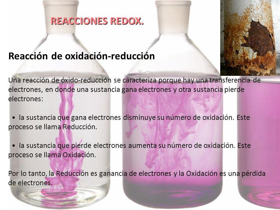 Reacción de oxidación-reducción