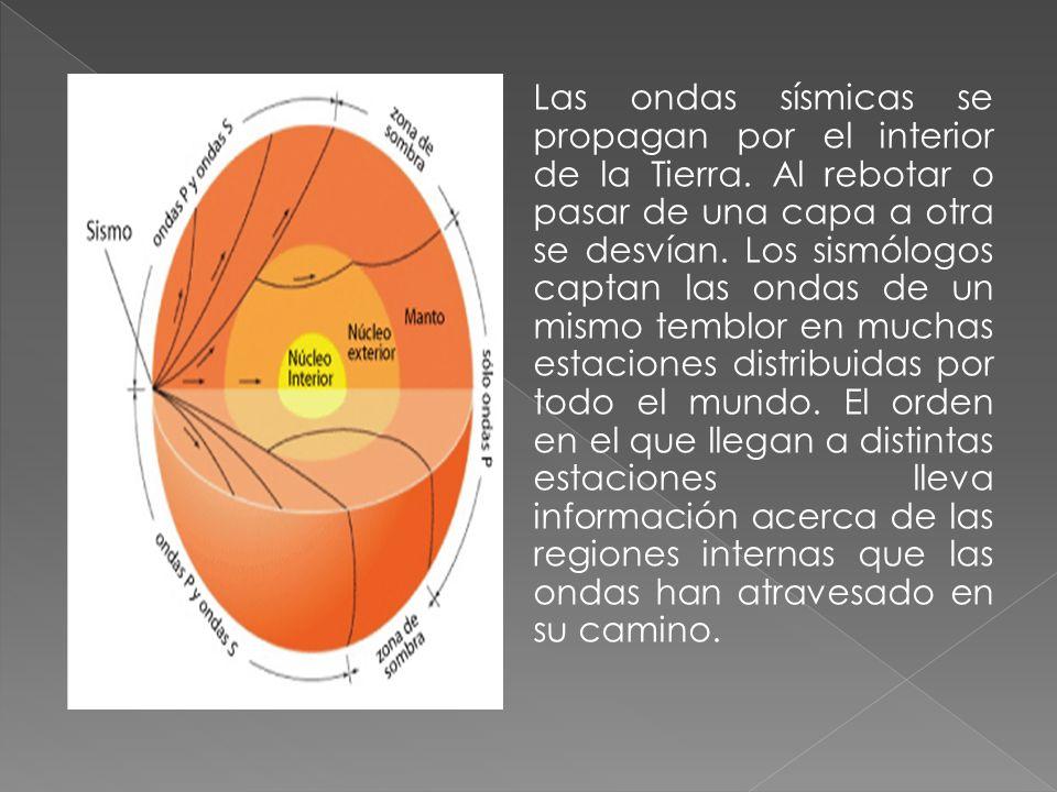 Las ondas sísmicas se propagan por el interior de la Tierra