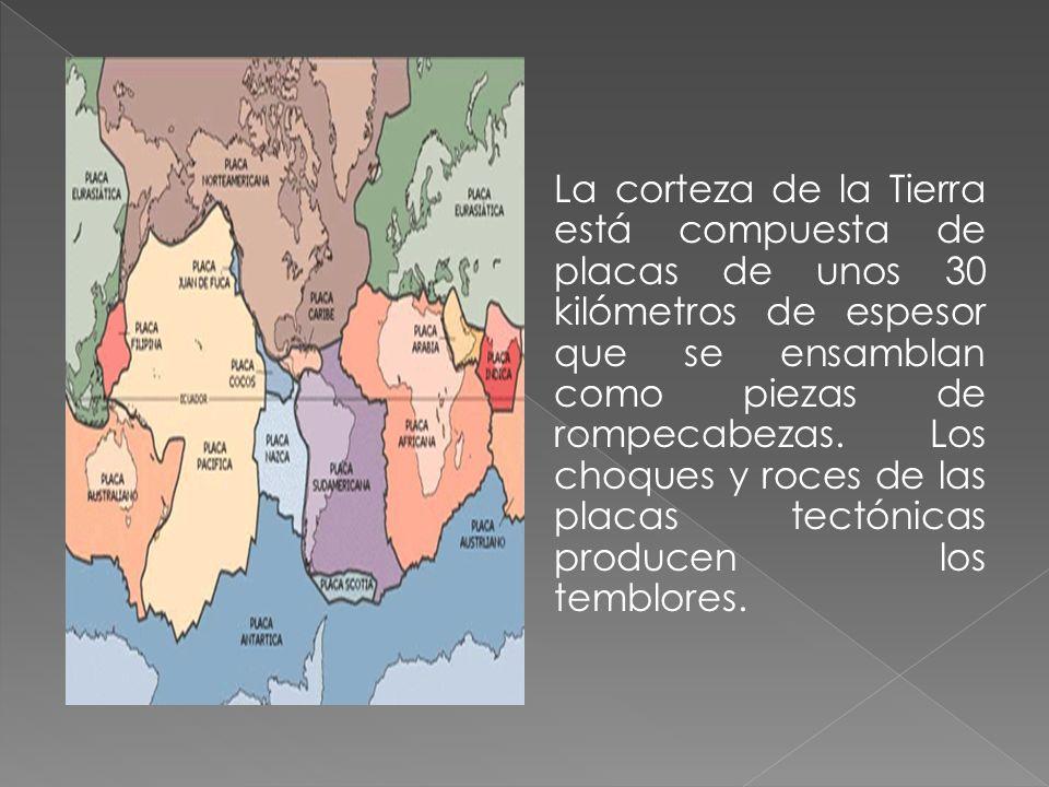 La corteza de la Tierra está compuesta de placas de unos 30 kilómetros de espesor que se ensamblan como piezas de rompecabezas.