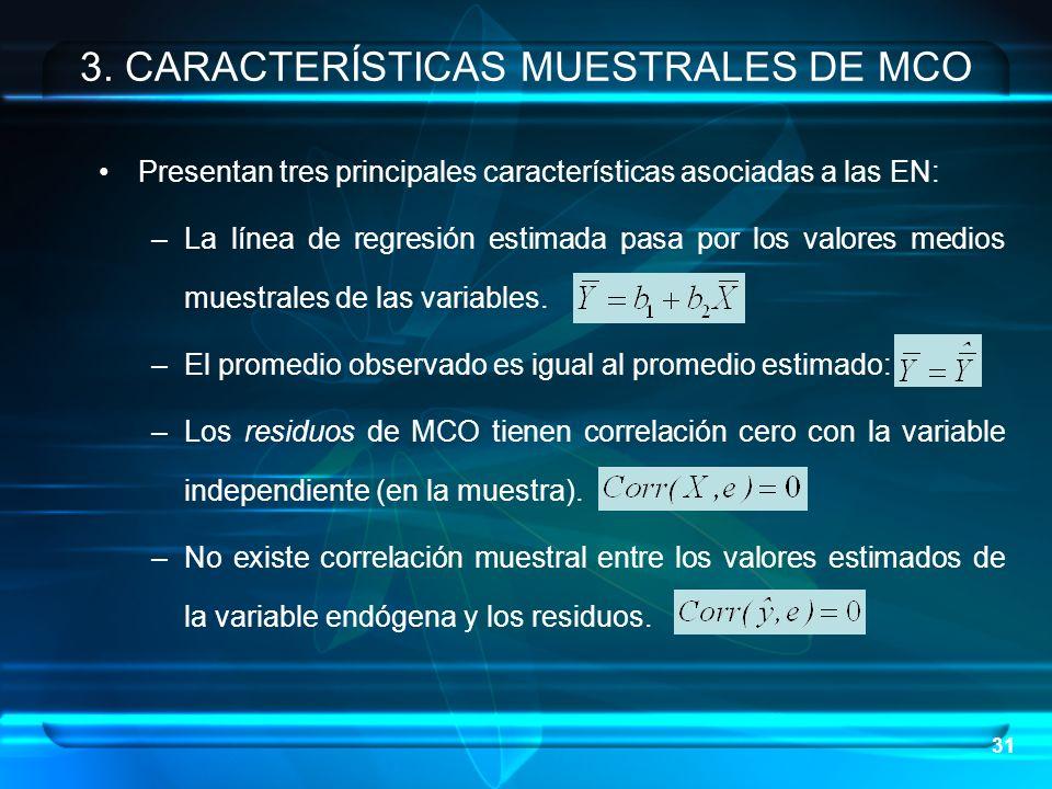 3. CARACTERÍSTICAS MUESTRALES DE MCO