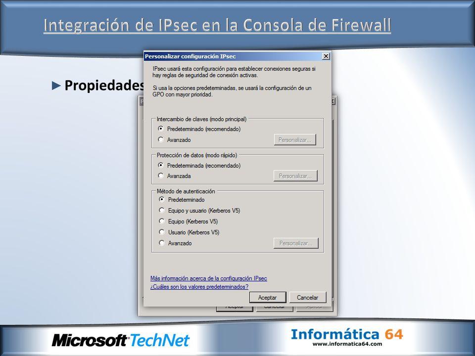 Integración de IPsec en la Consola de Firewall