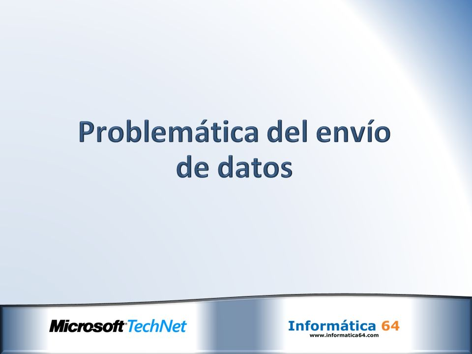 Problemática del envío de datos