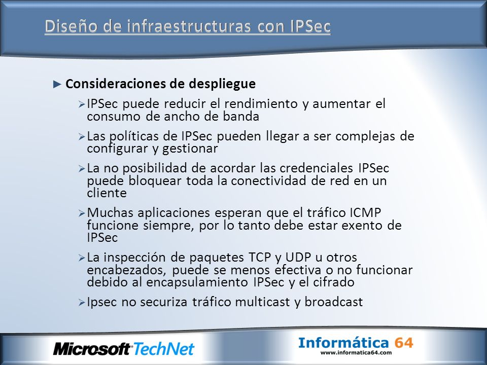 Diseño de infraestructuras con IPSec