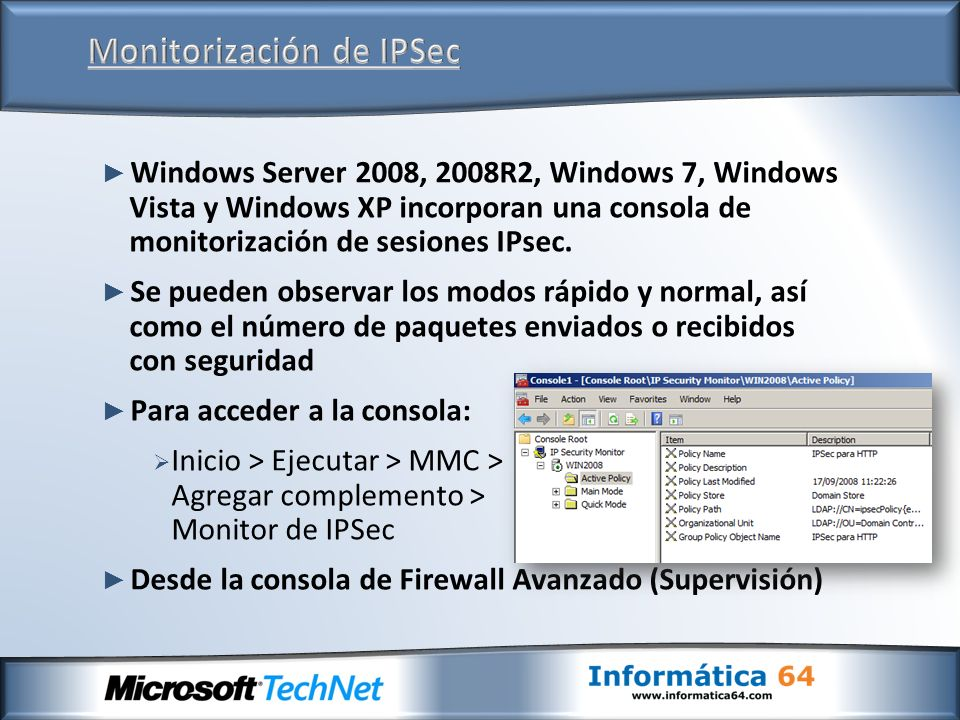 Monitorización de IPSec