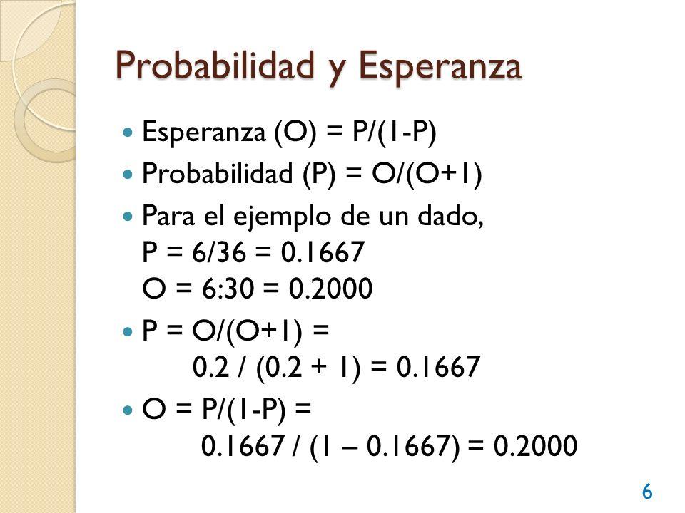 Probabilidad y Esperanza
