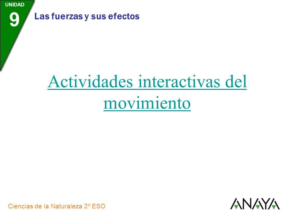Actividades interactivas del movimiento