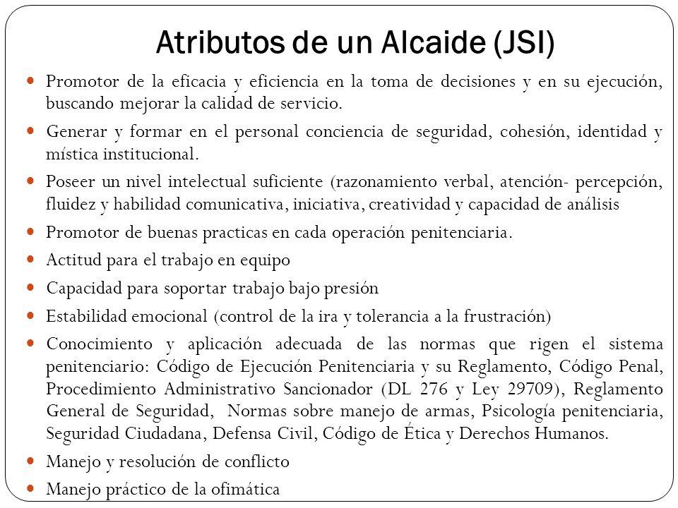 Atributos de un Alcaide (JSI)