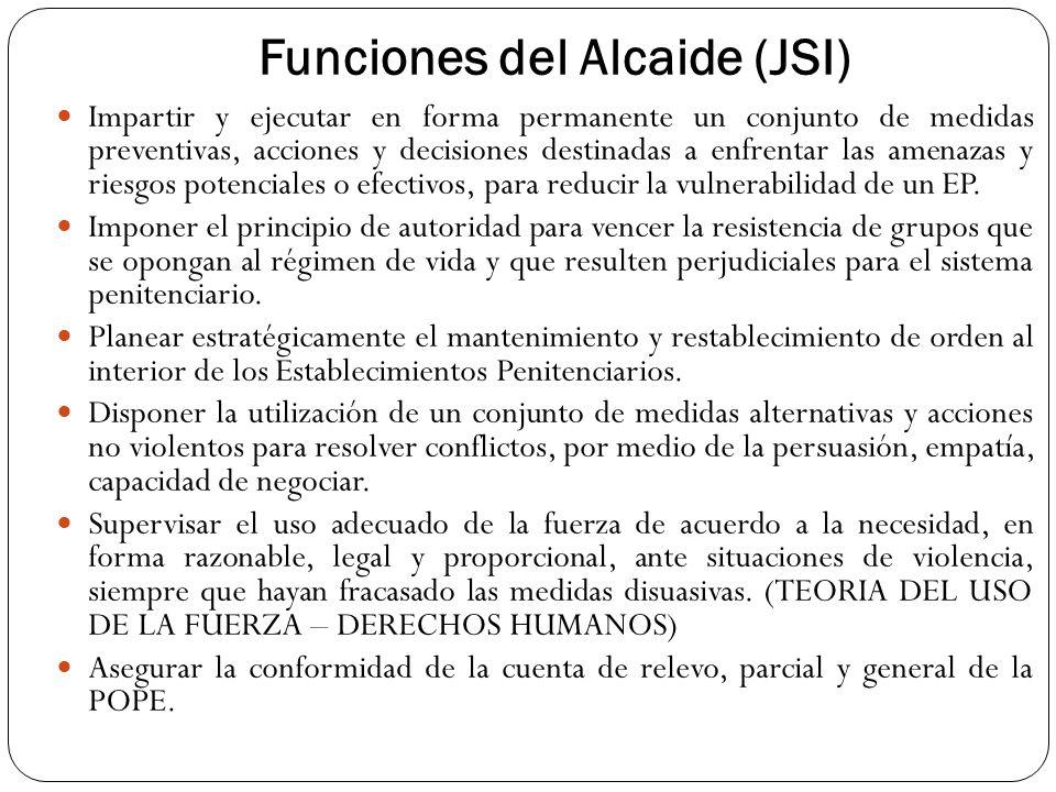 Funciones del Alcaide (JSI)
