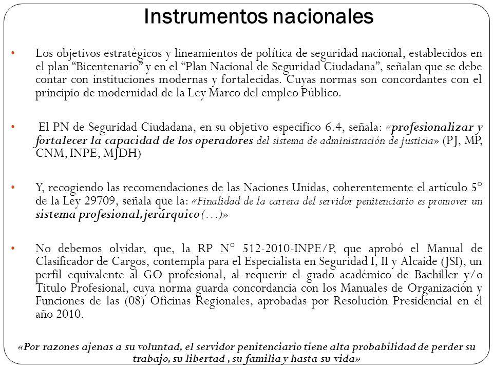 Instrumentos nacionales
