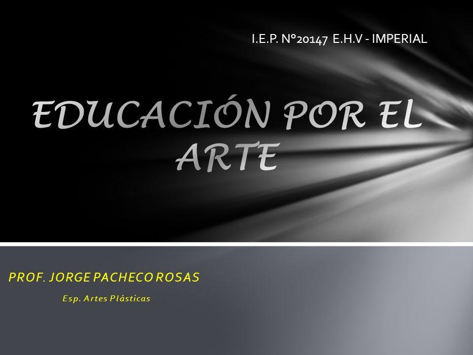 PROF. JORGE PACHECO ROSAS Esp. Artes Plásticas