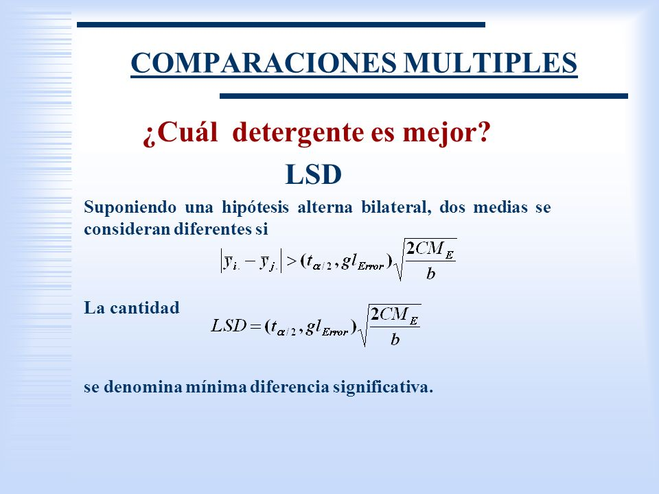 COMPARACIONES MULTIPLES