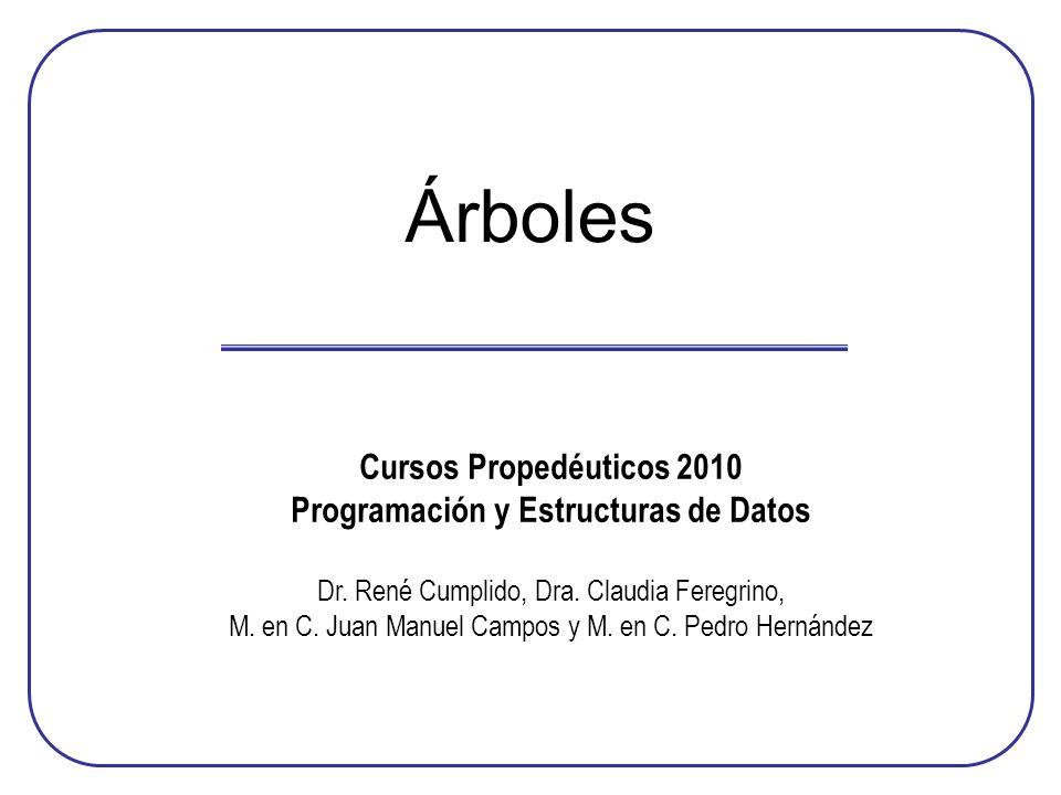 Programación y Estructuras de Datos
