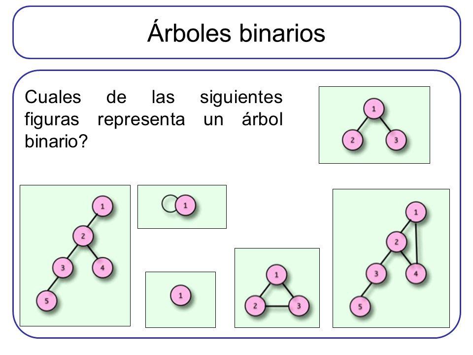 Árboles binarios Cuales de las siguientes figuras representa un árbol binario