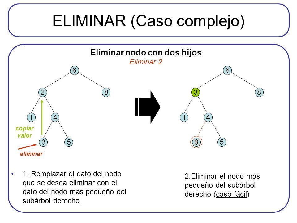 ELIMINAR (Caso complejo)