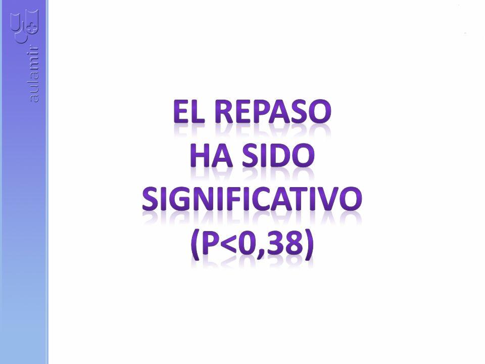 EL REPASO HA SIDO SIGNIFICATIVO (p<0,38)