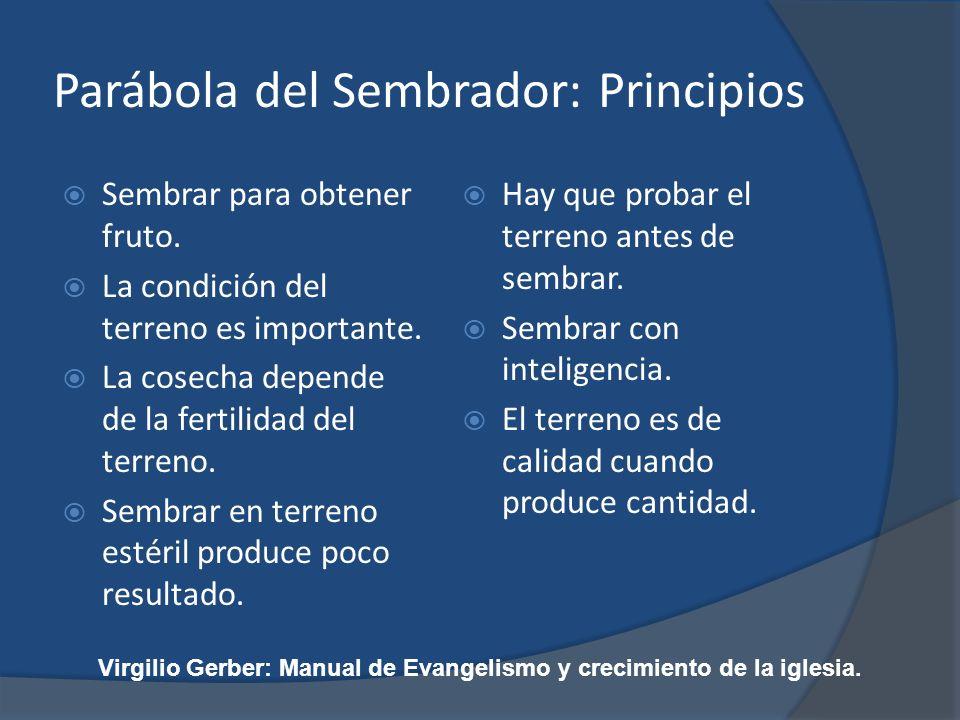 Parábola del Sembrador: Principios